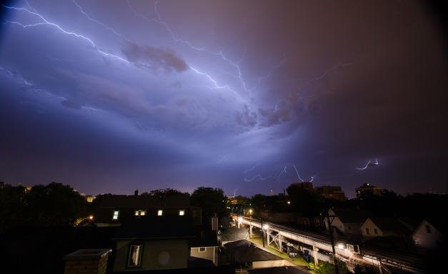 Lightning over Chicago