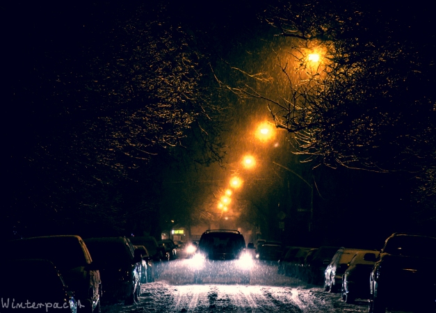 Wintry Chicago Street