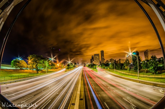 Lake Shore Drive Light Trails