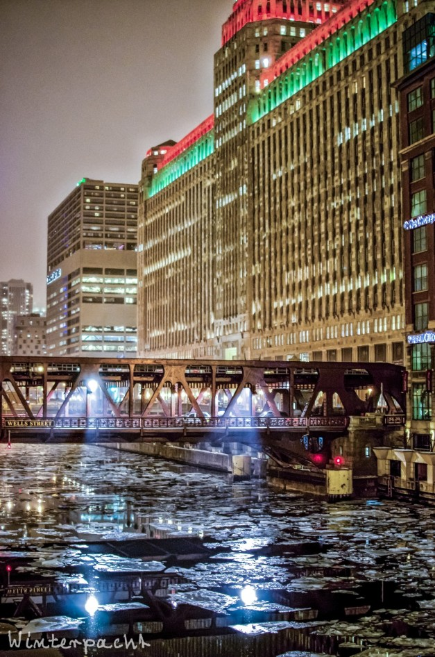 Icy Chicago River