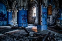 West Columns with Graffiti