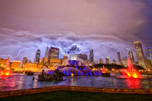 Lightning over the Skyline