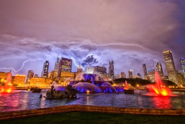 Lightning over the Skyline